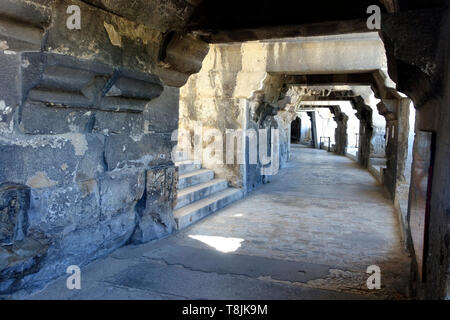Corridor in the Arena of Nîmes, France - Stock Image