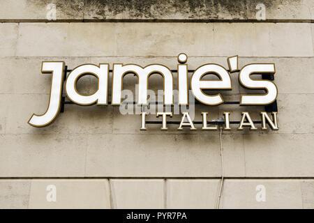 Jamie's Italian Restaurant, Manchester, England, UK - Stock Image