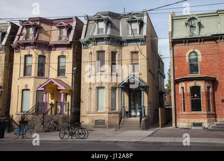 Row of old house, Toronto, Canada - Stock Image