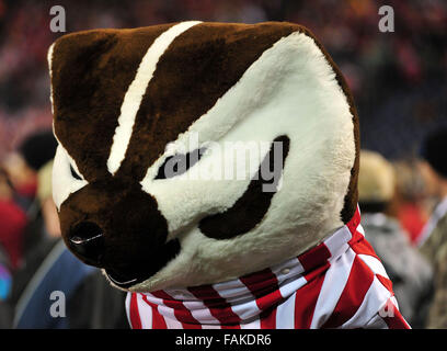 December 19, 2015. Bucky Badger. Buckingham U. ''Bucky'' Badger is the official mascot of Wisconsin - Stock Image