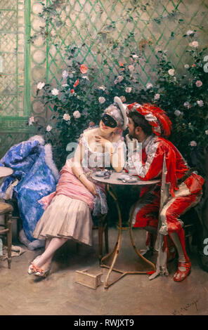 Masqueraders, Raimundo de Madrazo y Garreta , The Metropolitan Museum of Art, Manhattan, New York USA - Stock Image