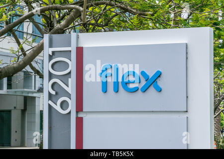 Flex Ltd. Technology manufacturer in the Silicon Valley California USA - Stock Image