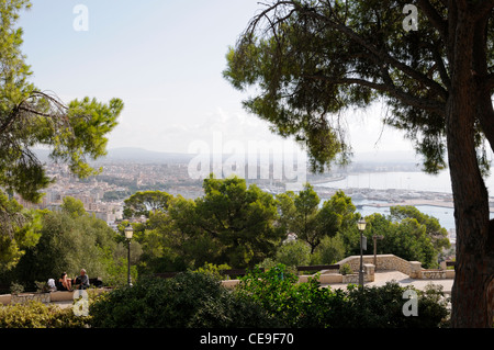 Blick über die Bucht von Palma, Mallorca, Spanien, Europa.   View over the bay of Palma, Majorca, Spain, Europe. - Stock Image