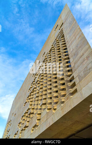Modern building of the Maltese Parliament - Valletta, Malta. - Stock Image