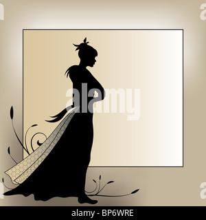 Romantic background - Stock Image