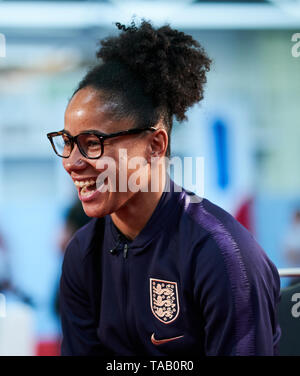 England women's Demi Stokes during the media day at St George's Park, Burton. - Stock Image