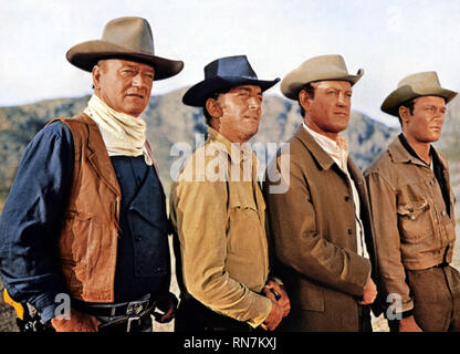 THE SONS OF KATIE ELDER, JOHN WAYNE, DEAN MARTIN, EARL HOLLIMAN , MICHAEL ANDERSON JR., 1965 - Stock Image