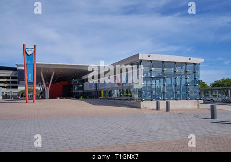 Myciti bus Airport station in Cape Town, South Africa, - Stock Image