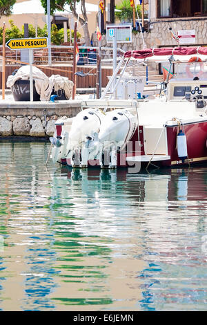 Reflections at Cala Bona Harbour - Stock Image
