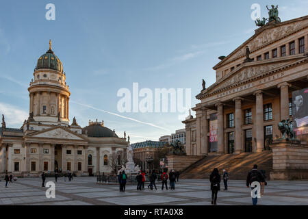 The Deutscher Dom and Konzerthaus Berlin at the Gendarmenmarkt - Stock Image
