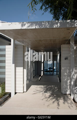 Entrance of a modern house - Stock Image