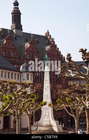 Frankfurt pauls platz church - Stock Image
