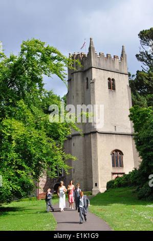St George and St Mary church, Cockington, Torbay, Devon, England, UK - Stock Image