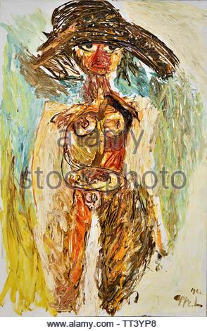 Janine by Karel Appel born in 1921 Dutch painter, (sculptor,  poet, Avant-garde movement Cobra), The, Netherlands. - Stock Image