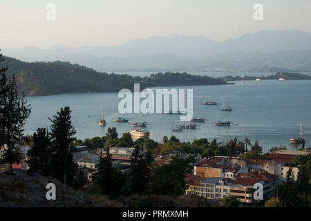 Scenic view of Fethiye on the turquoise coast in Turkey - Stock Image