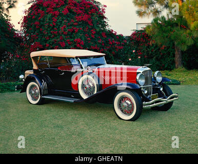 1930 Duesenberg Model J dual cowl sweep panel sports phaeton Country of origin United States - Stock Image
