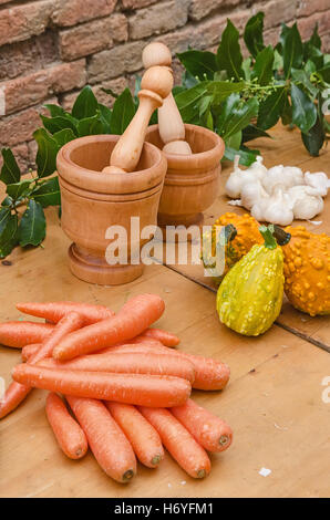 carrots over the table of the market - Stock Image