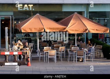 EAT cafe at the Southbank Arts Centre London - Stock Image