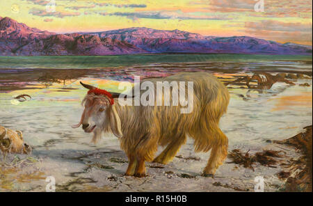 The Scapegoat, William Holman Hunt, 1854-1855, Lady Lever Art Gallery, Port Sunlight, Liverpool, England, UK, Europe - Stock Image