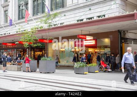 Dymocks bookshop and stationary store in George street,Sydney city centre,Australia - Stock Image