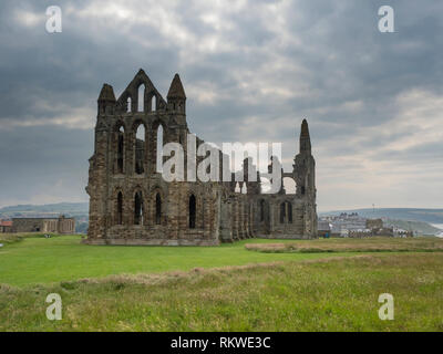 View of Whitby Abbey. - Stock Image
