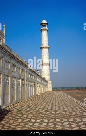 Taj Mahal Tower and Esplanade, Rajasthan, India - Stock Image