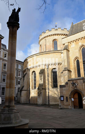 Temple Church in the Temple Bar area of the City of London, jointly owned by the Inner and Middle temple Inns of court - Stock Image