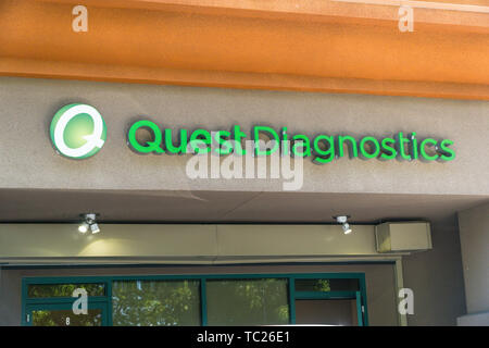 A data breach at at a vendor of Quest Diagnostics has put 12 million patients information in jeopardy - Stock Image