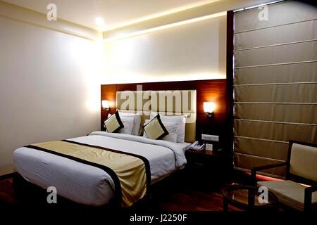 Hotel Interior, Jaipur, Rajasthan, India - Stock Image