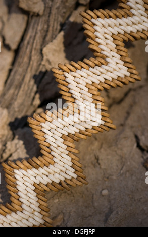 Ostrich shell jewellery - Stock Image