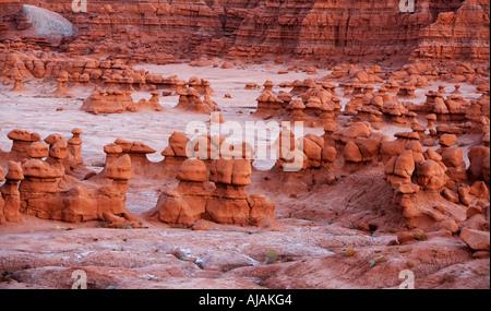 usa utah desert goblin valley state park red rock formation scenic landscape - Stock Image