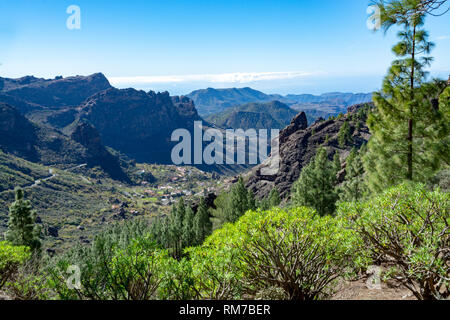 Mountains landscape on Gran Canaria island, Canary islands, Spain - Stock Image