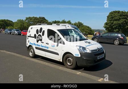 Dog warden service van. - Stock Image