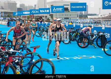 Yokohama, Japan. 18th May, 2019. 2019 ITU World Triathlon, World Paratriathlon Yokohama at Yamashita Park and Minato Mirai, Yokohama. Lindemann (Photos by Michael Steinebach/AFLO) Credit: Aflo Co. Ltd./Alamy Live News - Stock Image