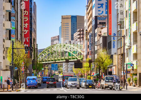 9 April 2019: Tokyo, Japam - Akihabara District, otherwise known as Electric City, well known for computers, video games and electronic equipment, tra - Stock Image