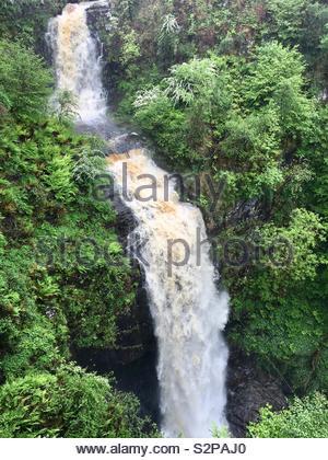 Glenashdale Falls, Whiting Bay, Isle of Arran, Scotland. - Stock Image