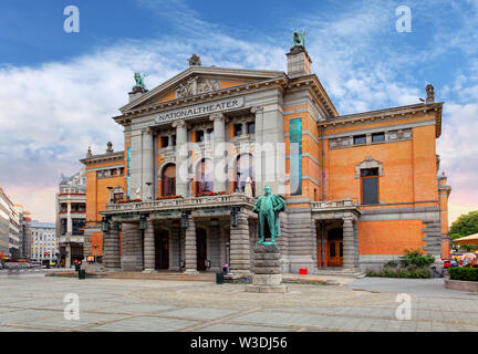 Oslo National theatre, Norway - Stock Image