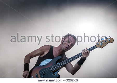 Heavy Metal band Gojira performing live - Stock Image