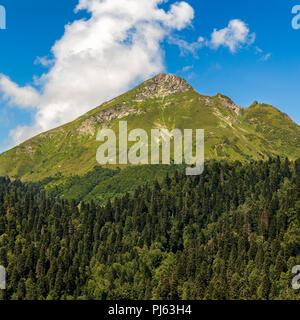 Rosa Peak, Krasnaya Polyana, Caucasus Mountains Russia - Stock Image