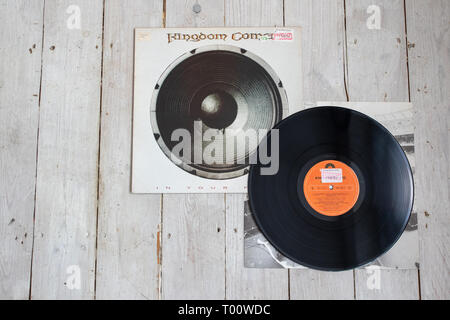American/German heavy metal band Kingdom Come - Stock Image
