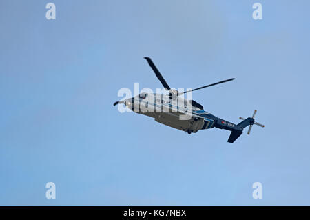 Bond Sikorsky S-92A North sea worker's transport between Aberdeen and  oil Platforms. - Stock Image