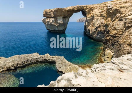 Coastline of Gozo Island - Malta - Stock Image