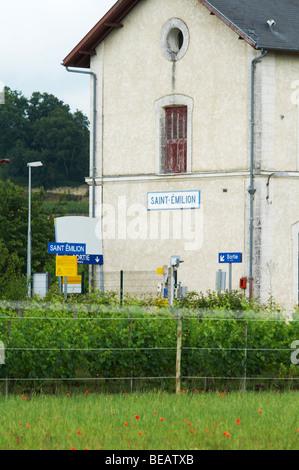 train station saint emilion bordeaux france - Stock Image