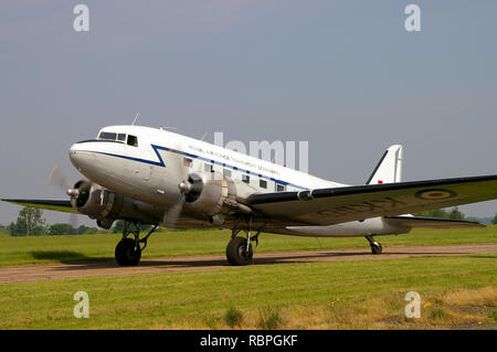 Douglas C-47 Skytrain, DC-3 Dakota Second World War transport plane KK116 G-AMPY in RAF Royal Air Force Transport Command colours. Berlin Airlift vet - Stock Image