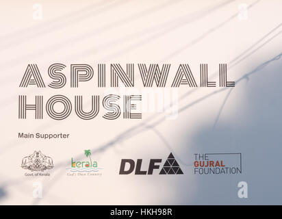 Aspinwall House at Kochi-Muziris Biennale in India - Stock Image