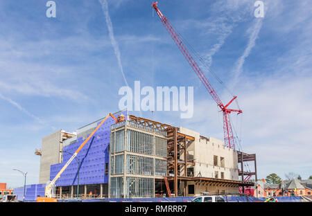 GREENSBORO, NC, USA-2/14/19: New construction of the Steven Tanger Center for the performing Arts. - Stock Image