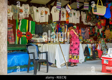 Shop For Tourists Dominica West Indies - Stock Image