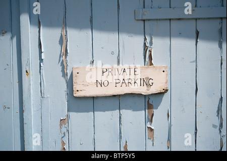 No Parking Sign, Cornwall, UK. - Stock Image