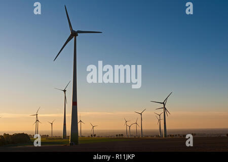 Wind Farm near Paderborn, NRW, Germany. - Stock Image