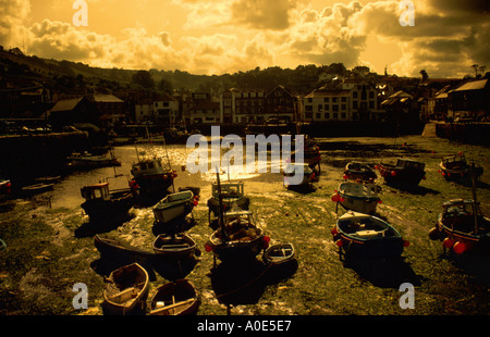 Mevagissy Harbour, Cornwall, UK at Sunset - Stock Image